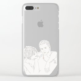 Holdin' onto you Clear iPhone Case