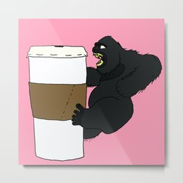 Kong Coffee Metal Print