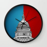 politics Wall Clocks featuring American Politics by politics