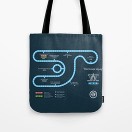Tomorrowland Transit Authority Map Tote Bag