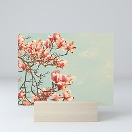 Pink Magnolia Blossoms in Spring Mini Art Print