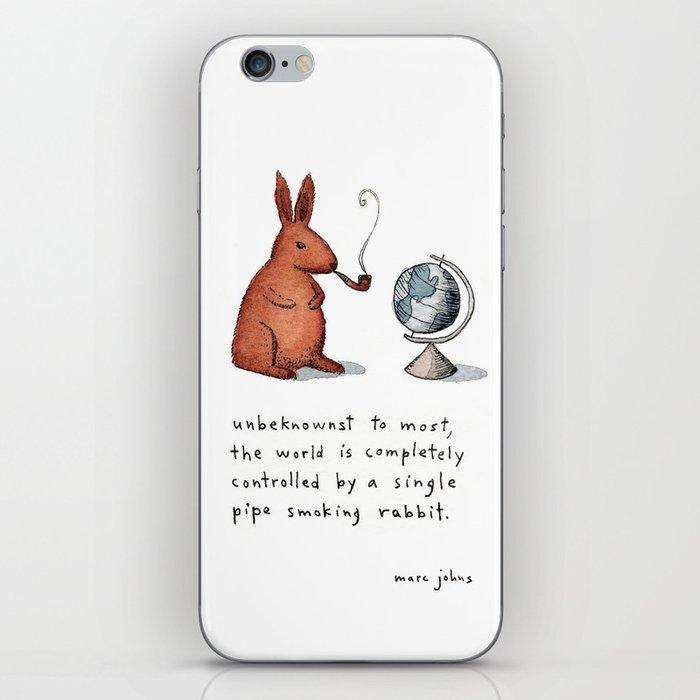 Pipe-smoking rabbit iPhone Skin