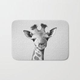 Baby Giraffe - Black & White Bath Mat