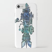 spaceship iPhone & iPod Cases featuring Spaceship  by Joseph Kennelty