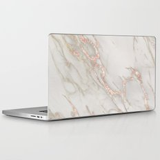Marble Rose Gold Blush Pink Metallic by Nature Magick Laptop & iPad Skin