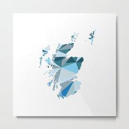 Scotland Pattern Map Art Metal Print