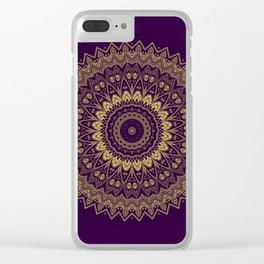 Harmony Circle of Gold on Purple Clear iPhone Case
