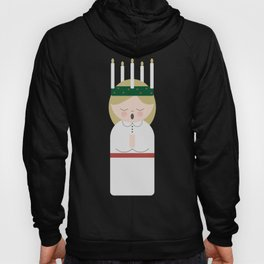 Cartoon girl with candles at Saint Lucy at Christmas Hoody