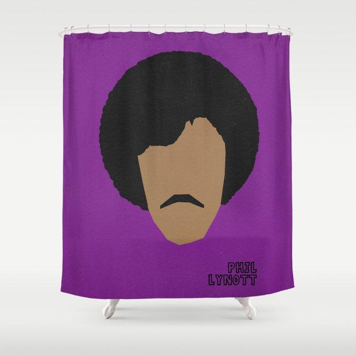 Rock Legends - Phil Lynott Shower Curtain