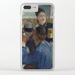 Edouard Manet - Corner Of A Cafe-Concert Clear iPhone Case