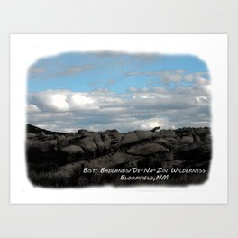 Bisti Badlands, De-Na-Zin Wilderness Art Print
