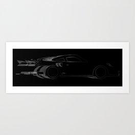Dark Fast Car Art Print