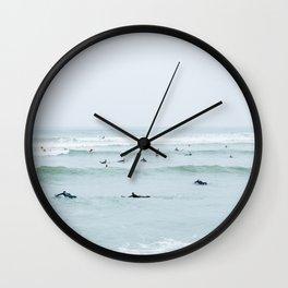 Tiny Surfers Lima, Peru Wall Clock