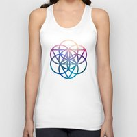 sacred geometry Tank Tops featuring Sacred Geometry Universe by Nick Kask Design Co