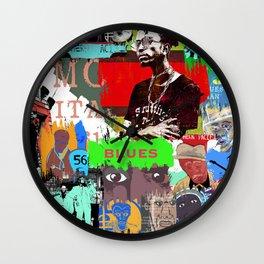 URBAN VINTAGE RETRO BLUES Wall Clock