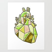 anatomical heart Art Prints featuring Anatomical Heart by Jonny Ashcroft