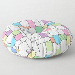 Pastel Stone Wall Floor Pillow