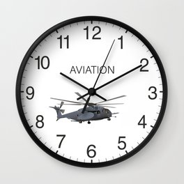Military MH-53 Helicopter Wall Clock