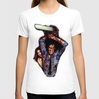 evil dead T-shirts featuring evil dead  by Official Nicolas Cage Cats