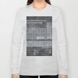 Tableau Periodiques Periodic Table Of The Elements Vintage Chart Silver Long Sleeve T-shirt
