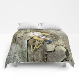 Steampunk letter C Comforters