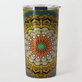 Round Colorful Design Travel Mug