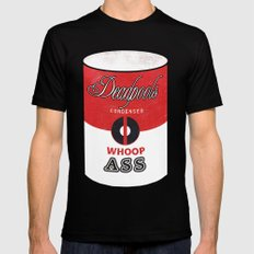 Deadpool's Can of Whoop-Ass! Black Mens Fitted Tee 2X-LARGE