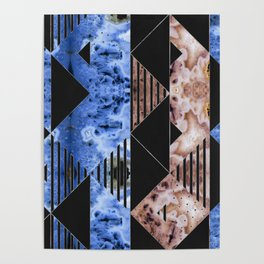 Agate Geode Textures Geometric Abstract  N5 Poster