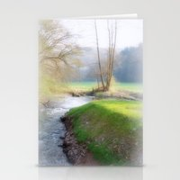 running Stationery Cards featuring Running Water by Laake-Photos