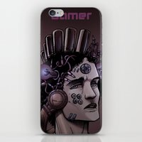 gamer iPhone & iPod Skins featuring Gamer  by Art is Vast