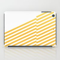 bands iPad Cases featuring Yellow bands by blacknote