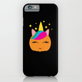 Super Cute Pumpkin Unicorn Halloween iPhone Case