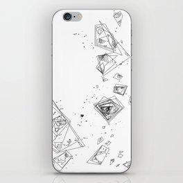 Mountain Vertices, Mt. Shasta, Black Geometric iPhone Skin