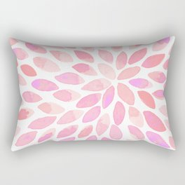 Watercolor brush strokes - pastel pink Rectangular Pillow