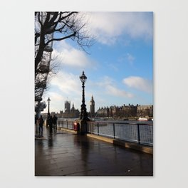 Banks of the River Thames Canvas Print