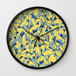 HEARTS PLANTATION [yellow] Wall Clock