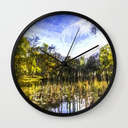 The Bulrush Pond Art Wall Clock