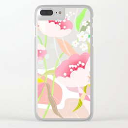 rapture: abstract floral. Clear iPhone Case