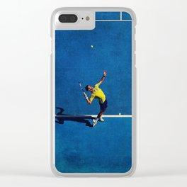 Novak Djokovic Tennis Serving Clear iPhone Case