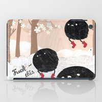 furry iPad Cases featuring Mr. Furry Pants by Hyein Lee