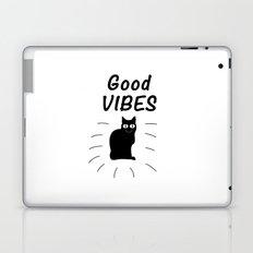 Good Vibes Cat Laptop & iPad Skin