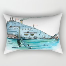 Steamboat Whale Rectangular Pillow