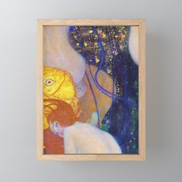 Gustav Klimt - Goldfische - Digital Remastered Edition Framed Mini Art Print