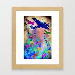 Butterfly Bombers Framed Art Print