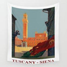 Tuscany - Siena Italy - Vintage Travel Wall Tapestry
