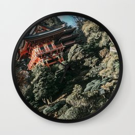 Japanese Tea Garden | San Francisco Golden Gate Park Traditional House Unique Architecture Design  Wall Clock