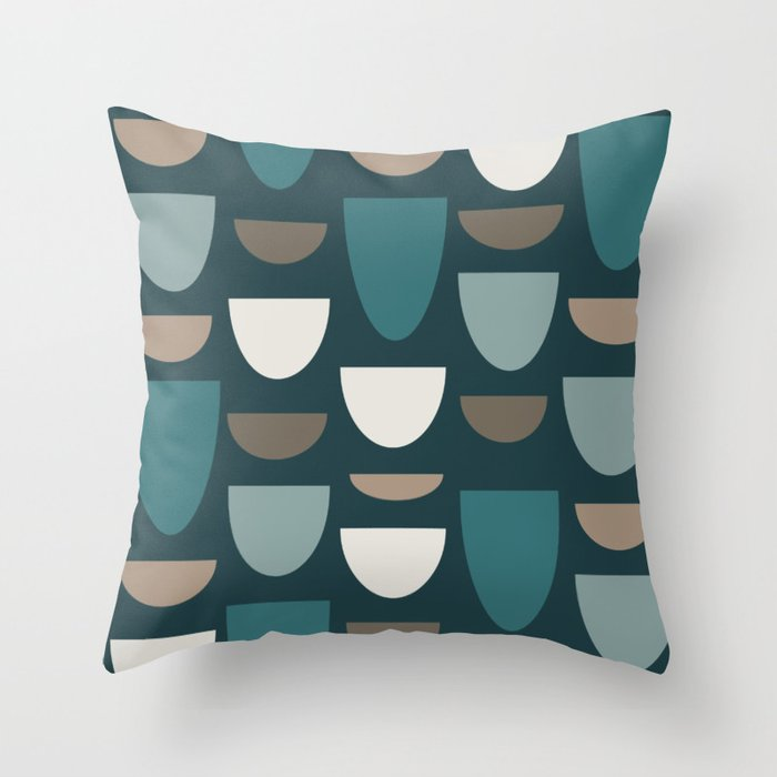 Turquoise Bowls Throw Pillow