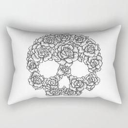 Skull of Roses Rectangular Pillow
