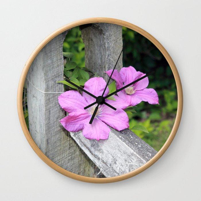 Purple Days Wall Clock