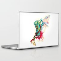 letter Laptop & iPad Skins featuring Love Letter by missfortunetattoo